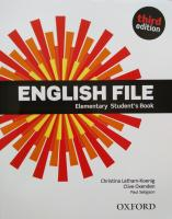 English File Elementary 3rd Edition Student's Book with Student's Site